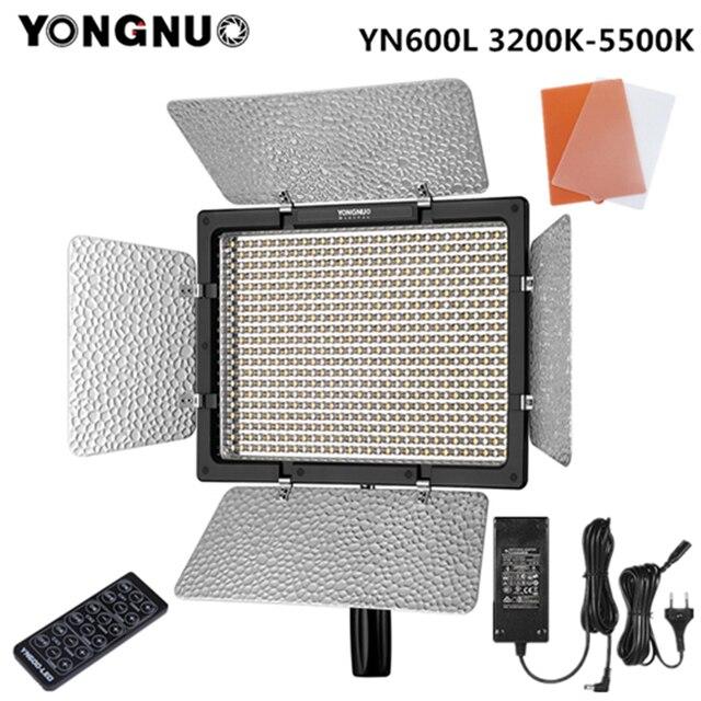 Yongnuo YN600L YN600 L LED Video Light 3200K 5500K AC ADAPTER ชุดสนับสนุนรีโมทคอนโทรลโดยโทรศัพท์ APP สำหรับสัมภาษณ์