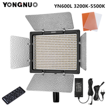 Yongnuo YN600L YN600 L LED Video Light 3200K 5500K with AC Adapter Set Support Remote Control by Phone App for Interview