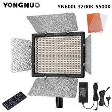 Yongnuo YN600L YN600 L LED lumière vidéo 3200K 5500K avec adaptateur secteur prise en charge de la télécommande par téléphone App pour Interview