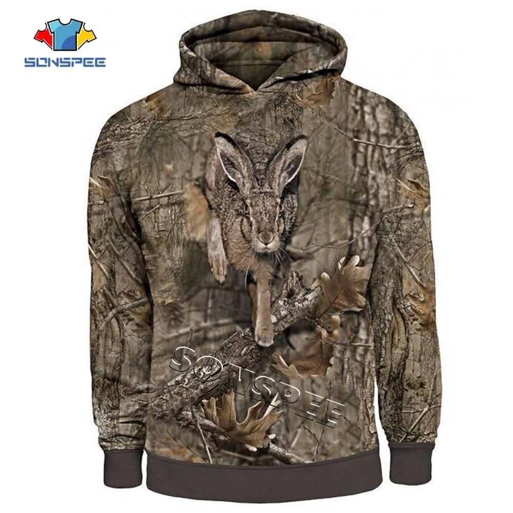 3D Print Camo HUNTING ANIMALS Hare Hoodies Women Fashion Streetwear Hooded Sweatshirt Long Sleeve Casual Pullover New Men Hoodie