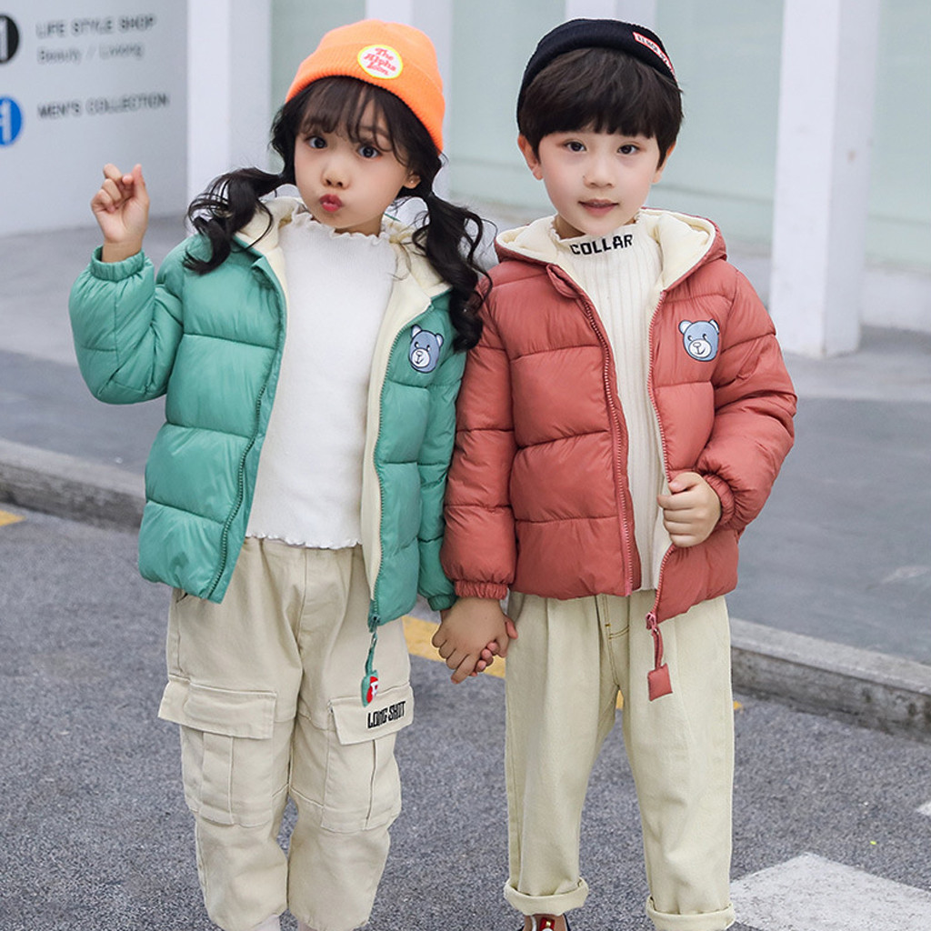 Girl Winter Jackets Outwear Windbreaker Coat Snow-Hoodie Toddler Baby Boys Thick Kids