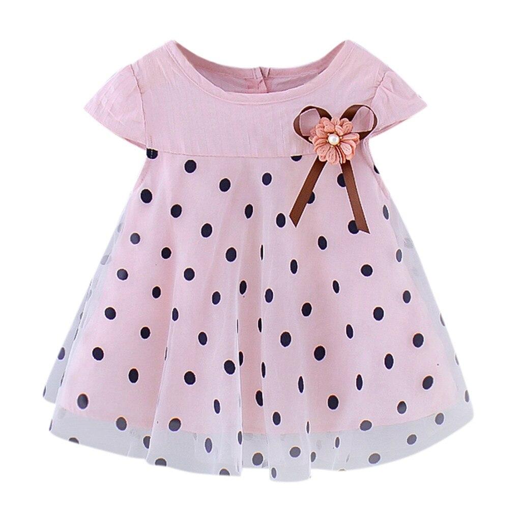 Children's Short Sleeve Lace Lace Fruit Pear Panel Print Princess Dress платье детское