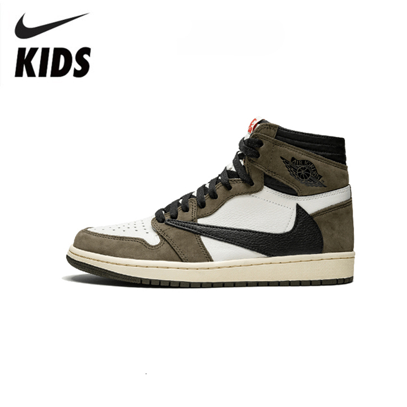 Nike Air Jordan 1 Original Kids Shoes Breathable Children Basketball Shoes Sports Comfortable Sneakers #CD4487