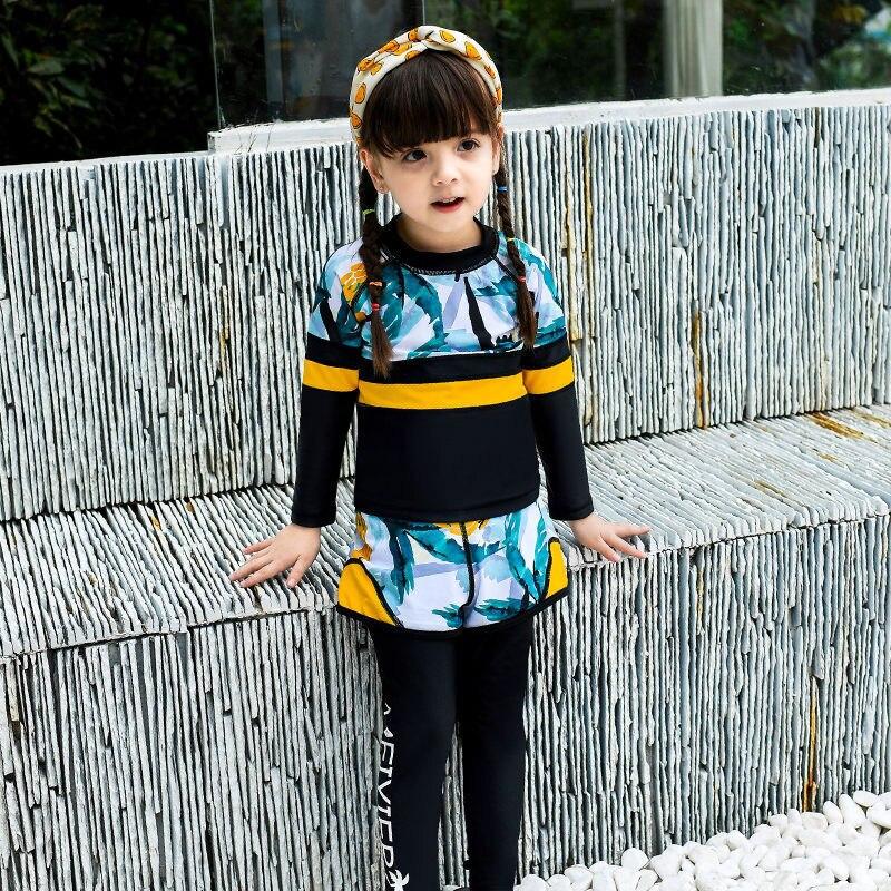 2019 New Style Children Diving Suit Men And Women Children Outdoor Long Sleeve Siamese Swimsuit Swimwear 961/971