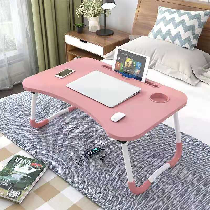 Folding Laptop Stand Holder Portable Study Table Desk Wooden Foldable Computer Desk For Bed Sofa Tea Serving Table Stand