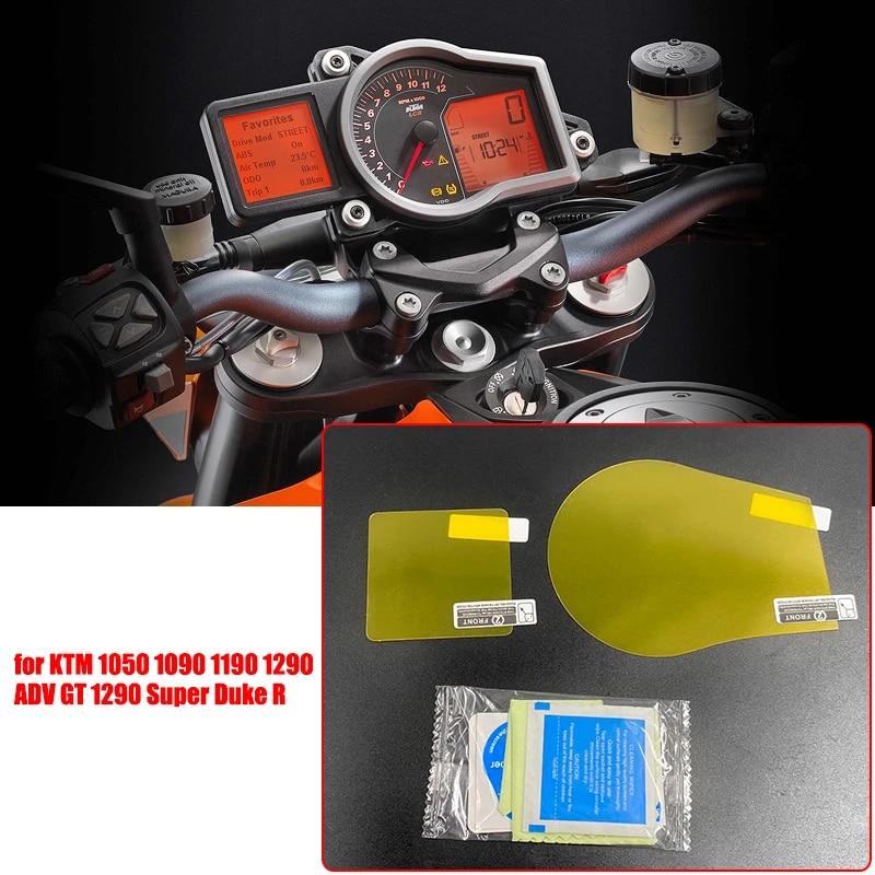 Lot de 2 films de protection d/écran pour compteur de vitesse KTM 1190//1290 Super Duke GT 1 x Ultra Clear 1 x Anti-reflet
