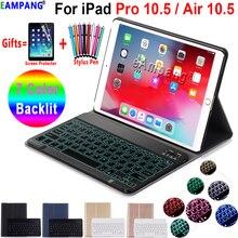Beleuchtete Tastatur Fall Für Apple iPad Air 2019 10,5 3 3rd Generation A2152 A2153 A2154 A2123 Pro 10,5 A1701 A1709 bleistift Film
