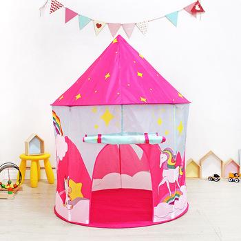 Namiot dla dzieci jednorożec Playhouse przenośny namiot składany dziewczyna kryty piłka oceaniczna basen dla dzieci namiot do zabawy na zewnątrz prezent dla dziecka tanie i dobre opinie LUCERN Poliester CN (pochodzenie) none 2-4 lat 5-7 lat 8555SAO Sport