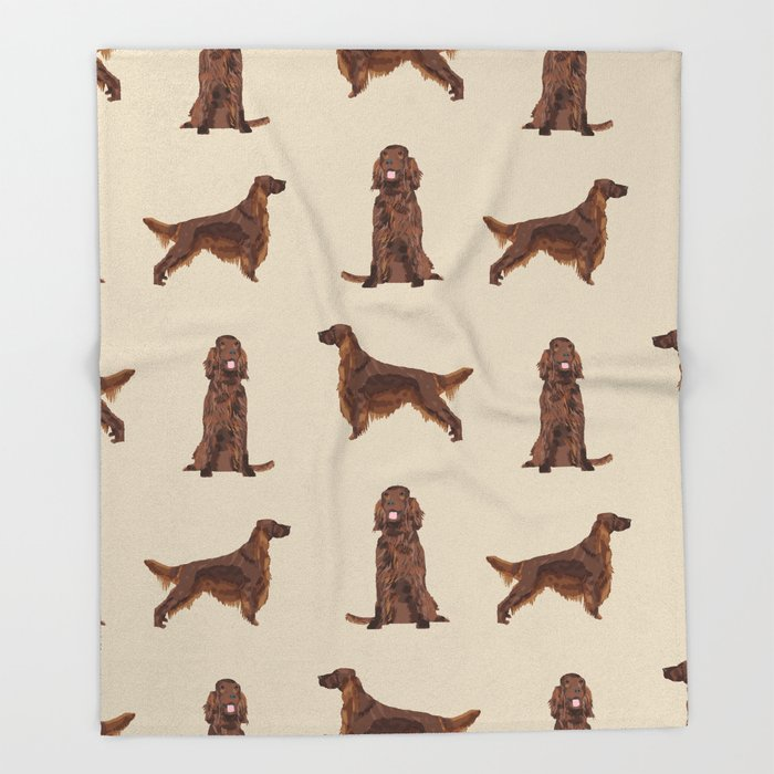 Dog Cartoon Design Blankets Irish Setter Dog Throw Blanket  Home Primitive Decor Throw Blanket For Sofa Free Shipping