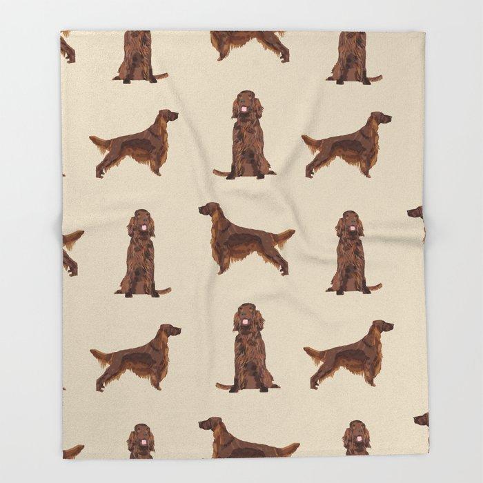 Dog Cartoon Design Blankets Irish Setter Dog Throw Blanket  Home Primitive Decor Throw Blanket For Sofa Free Shipping