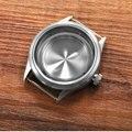 Caixa do relógio 41mm prateado 316l s aço caber dg2813/3804 miyota 8215 /8205 série de movimentos para relógios de pulso mecânicos dos homens