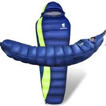 Geertopダウン超軽量寝袋ハンモックテント防水冬のミイラ記入用大人子供4シーズン