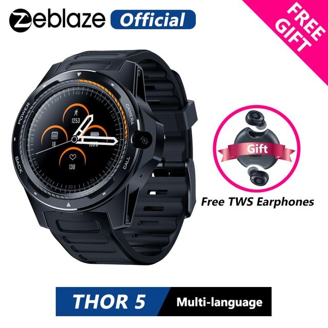 "[Free TWS Earphones] Zeblaze THOR 5 Dual System Hybrid Smartwatch 1.39"" AOMLED 454*454px 2GB+16GB 8.0MP Front Camera Smart watch"