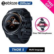 """Zeblaze Smartwatch híbrido de doble sistema THOR 5, auriculares TWS gratuitos, 1,39 """", AOMLED, 454x454p, 2GB + 16GB, 8,0mp, cámara frontal, reloj inteligente"""