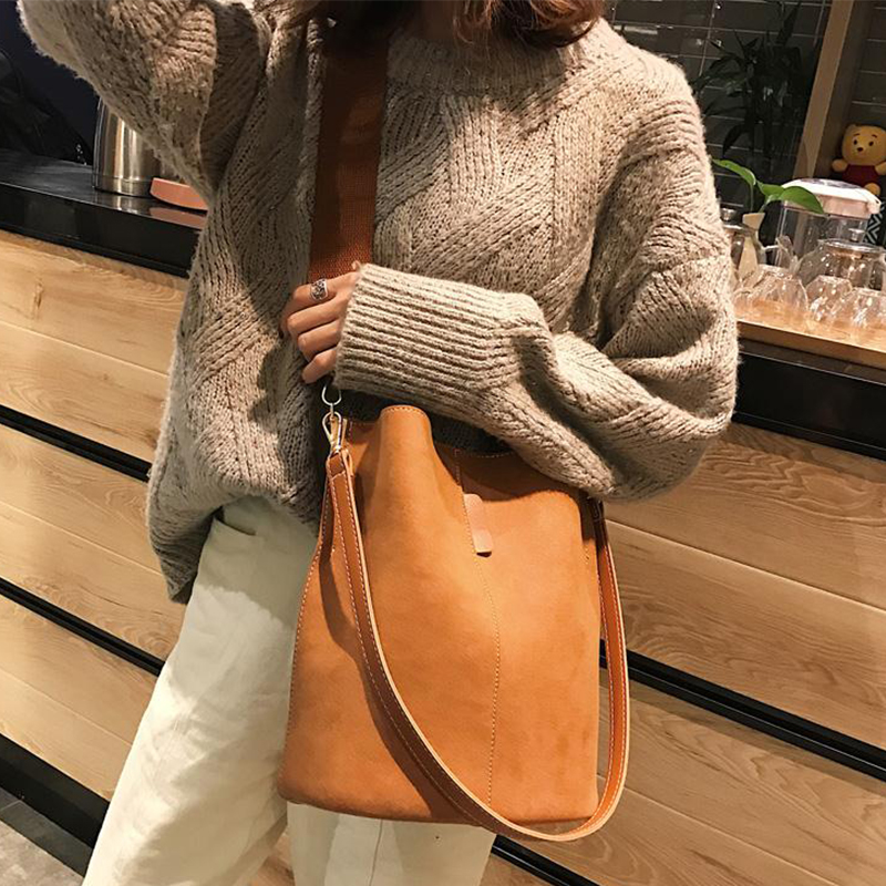 New 2020 European Style Women's Handbags Bucket Women Messenger Bags Leisure Female Tote Fashion Large Capacity Shoulder Bags