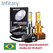 Infitary 2 предмета светодиодный автомобилей головной светильник 72W фары для 8000LM 6500K H7 светодиодный H4 H1 H11 H3 H13 H27 880 9006 9007 Авто противотуманных фар с возможностью креативного светильник Bulb12V 24V