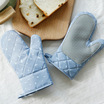1 Pair Microwave Oven Mitt Glove With Loop For Baking And Cooking Use
