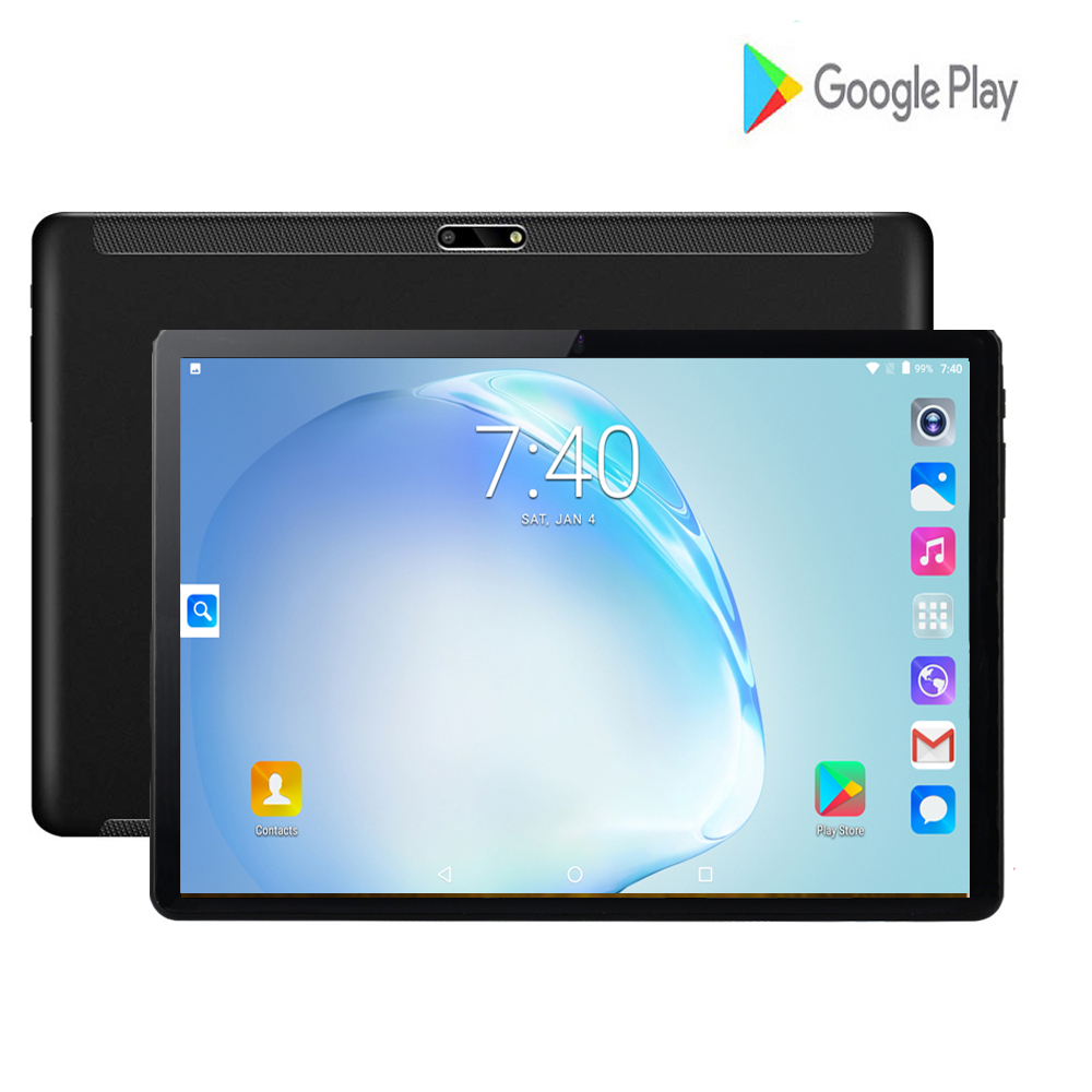 2020 New 2GB RAM 32GB ROM Quad Core CPU Google 10 Inch Tablet Android 7.0 3G Phone 8MP 1280x800 IPS WIFI GPS Tablet 10