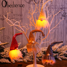 цена на Christmas Decoration Creative Forest People Doll Hanging Light Night Light Christmas Tree Hanging Party Decorations