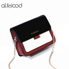 aliwood Women Small Bag Chain Female Shoulder Bags Designer Flap Panelled Lady Messenger Bag Elegant Ladies Crossbody Bag Bolsas