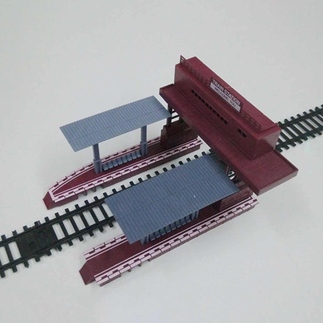 1: 87 escala ho cena ferroviária modelo de estação de decoração para a construção de mesa de areia