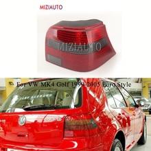 MIZIAUTO Left/Right Rear Tail Light for VW MK4 Golf 1999-2005 Warning Light Brake Light Euro Style Red Smoke taillights assembly цена