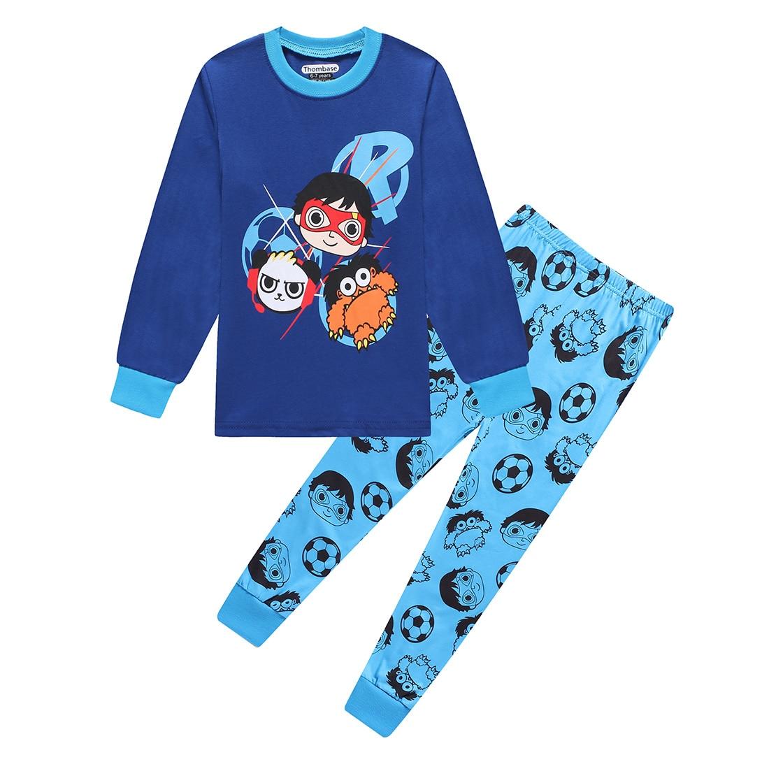 Baby Boy Girl Ryan Toys Review Christmas Pajamas Ryan's World Toddler Boys Xmas Pyjamas Pjs Tops Kids Children Sleepwear Pijamas