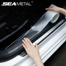 Transparent Carbon Auto Aufkleber Tür Rand Film Anti Scratch Auto Tür Sill Protector für Stoßstange Stamm Haushalt Auto Styling