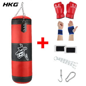 Empty Boxing Sandbag Home Fitness Hook Hanging Kick Punching Bag Boxing Training Fight Karate Punch Muay Thai Sand Bag