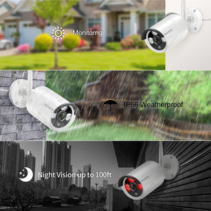 Image 5 - Techege 8CH 1080P Wireless CCTV System WiFi NVR Kit 2MP Outdoor Waterproof Vandalproof Dome Camera IP Wifi Security System Kit