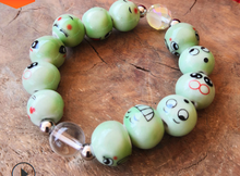 New cartoon funny ceramic expression beads cute bracelet men and women universal jewelry hot sell jewelry(China)