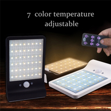48LED Solar Lamp Remote Control Dimmable Light Body Sensor Lights Outdoor Patio waterproof IP65 Lighting