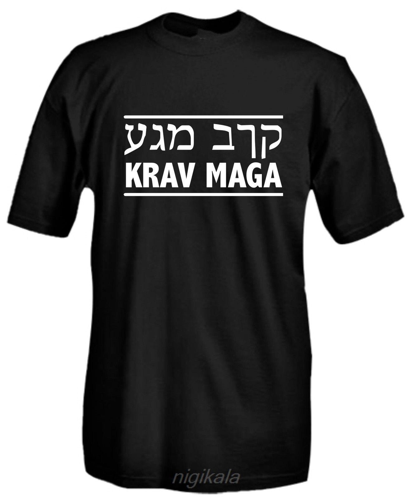 Camiseta krav maga sistema de combate israelita engraçado homem tshirts casual personalizado topos t preto novas chegadas frete grátis
