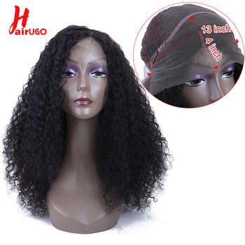 HairUGo Curly Lace Front Human Hair Wigs Bleached Knots Brazilian Remy Hair Lace Wig 13*4 With Baby Hair For Women 150% Density