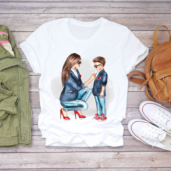 Women Cartoon Super Mom Life Momlife Summer Print Lady T-shirts Top T Shirt Ladies Womens Graphic Female Tee T-Shirt 26