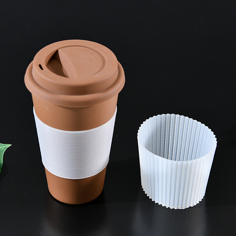 Silicone Cup Sleeve Heat Insulation Sleeves Non-slip Mug Sleeve Glass Bottle