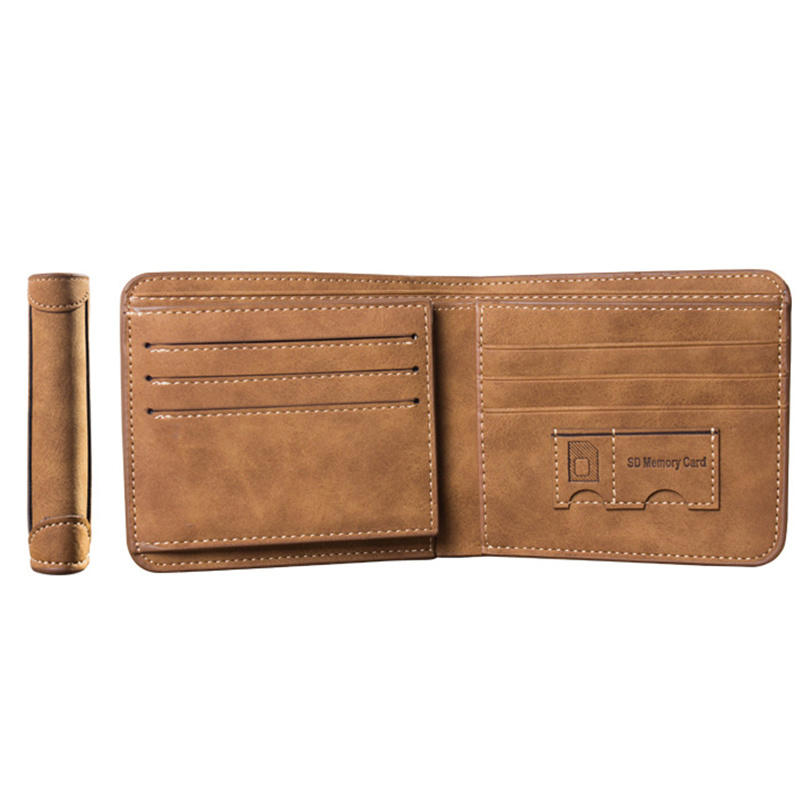 Men Wallet Leather ID Credit Card Holder Clutch Coin Purse Luxury Brand Wallet Frosted Short Wallets 2019 Men Wallet Coin Pocket 4