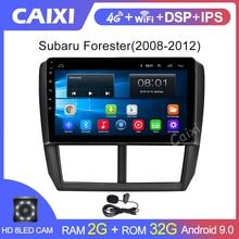 Caixi 9 Inch 2din Android 9.0 4G Tle Autoradio Autoradio Multimedia Spelers Voor Subaru Forester 2008 2009 2010 2011 2012
