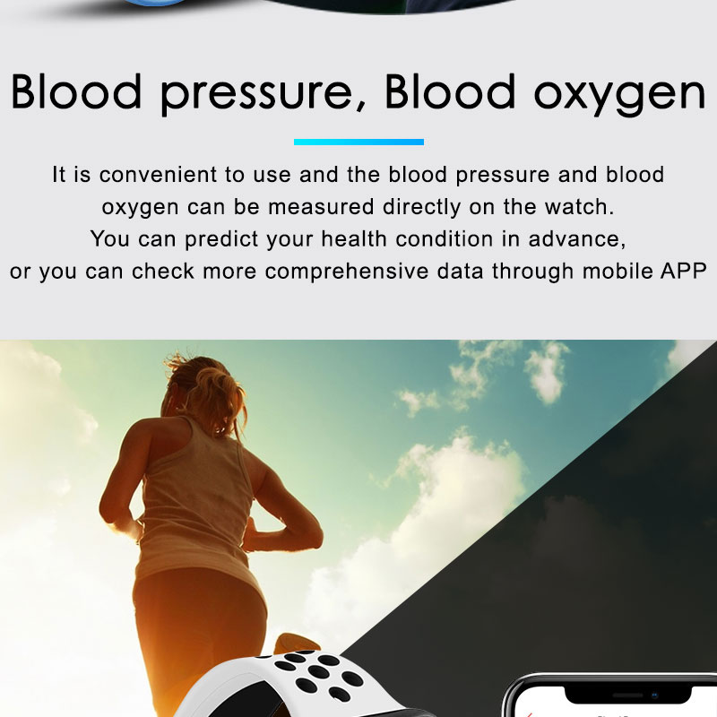 F9 s PK iwo8 b57 Touch Screen smart watches to Monitor Heart rate and Blood pressure Supported for IOS Android for men women 12