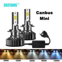 GEETANS H7 H4 LED سيارة العلوي H1 H3 H8 H11 LED 9005 HB4 9006 HB5 HB3 HB2 9003 9004 9007 سيارة أضواء لمبة 6500K في Canbus