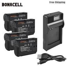 Bonacell – batterie de caméra 2800mAh EN-EL15 ENEL15 EN EL15, avec chargeur LCD pour Nikon DSLR D600 D610 D800 D800E D810 D7000 D7100 L50
