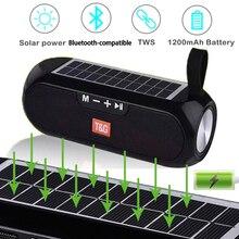 Bluetooth uyumlu hoparlör taşınabilir ses kablosuz stereo müzik kutusu güneş mobil güç hoparlör açık su geçirmez hoparlör