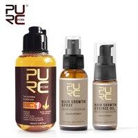 Пуск Лидер продаж волосы выпадения набор шампунь для придания волосам густоты и эссенция для волос масло и рост волос спрей лечение выпаден...