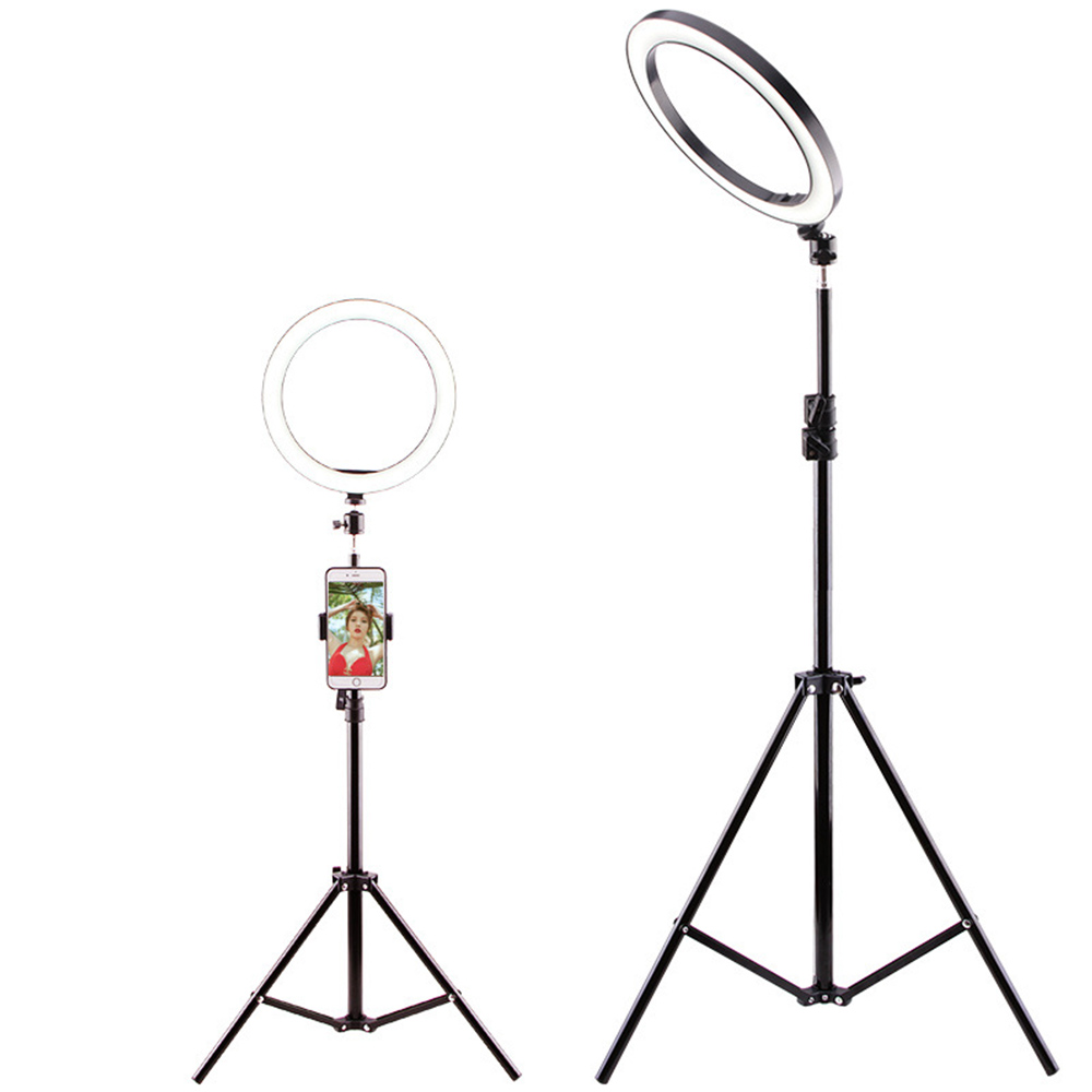 LED Ring Light With Stand For Iphone Selfie Makeup Photo Ring Light Tripod Photo Ring Photography Lighting