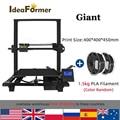 Ideaformer Prusa I3 3D-принтер Giant 400*400*450 мм FDM TMC2208, бесшумный драйвер, полностью металлический, с зарубежным складом с нитью 1,5 кг