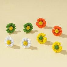 Серьги гвоздики в Корейском стиле женские простые красочные