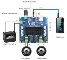 Placa de amplificador de Audio Digital TDA7498 Bluetooth 100, 2x5,0 W, doble canal, Clase D, estéreo, Aux, Amp, Decoded FLAC/APE/MP3/WMA/WAV