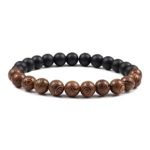 Image 2 - Natuurlijke DIY Houten Kralen Charm Chakra Armbanden Balans Yoga Meditatie Armband & Bangles Vrouwen Mannen Homme Gebed Sport Sieraden