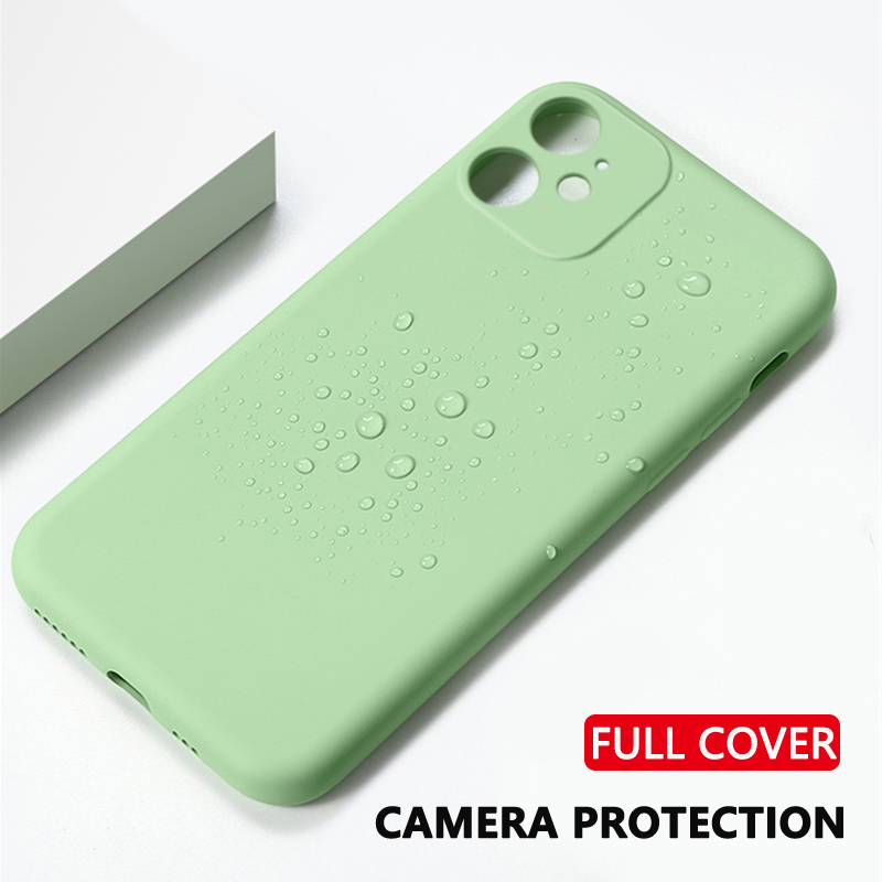 Original Liquid Silicone Phone Case For iPhone 7 8 6 6s Plus SE 2 Thin Soft Candy Coque Cover For iPhone X XR Xs 11 Pro Max Case