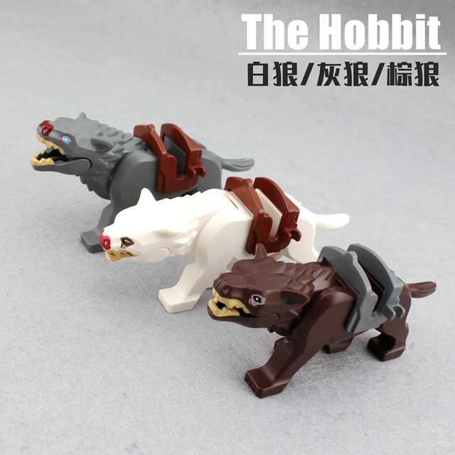 6Pcs/set New Enlighten Lord of the Rings Hobbit Wolf for Minifigure Bricks Building Blocks Action Figures Toys For Boys Gift